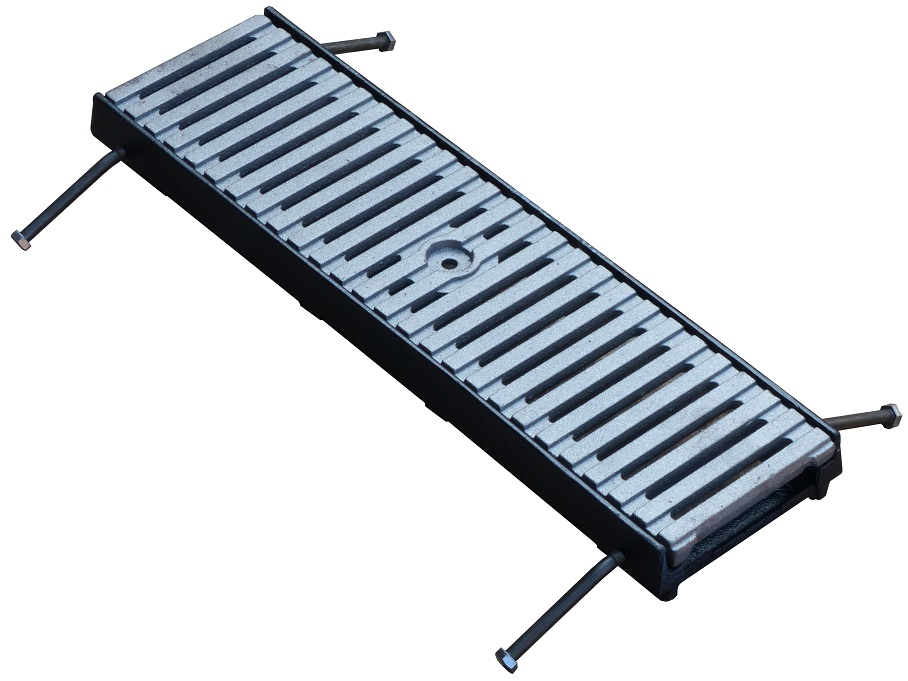Fiberglass Tree Grates : Poly grate compact black polymer channel with