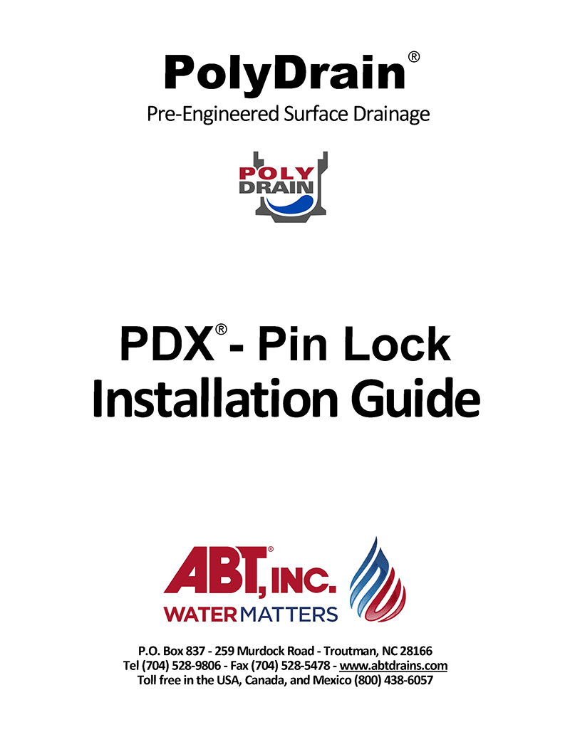 PDX Pin Lock Installation Guide
