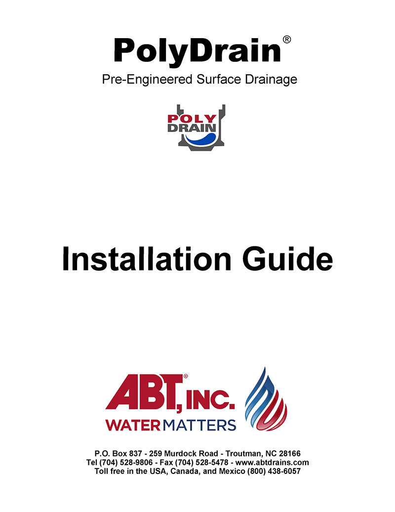 PolyDrain Installation Guide