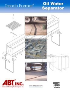 TrenchFormer Oil Water Separator Catalog